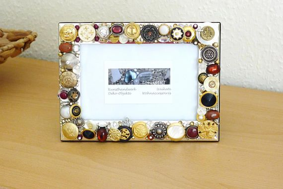 picture frame silver frame jewelry mosaic art jewelled by #LonasART