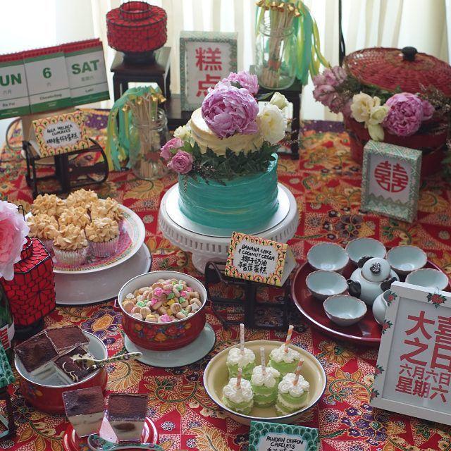 Peranakan inspirations for reception table