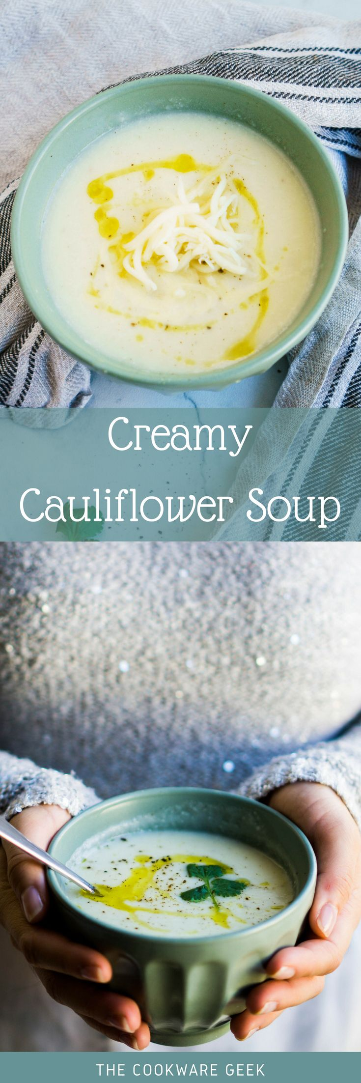 There are recipes that have the only purpose of warming your heart. This extra creamy and cheesy cauliflower soup does exactly that.