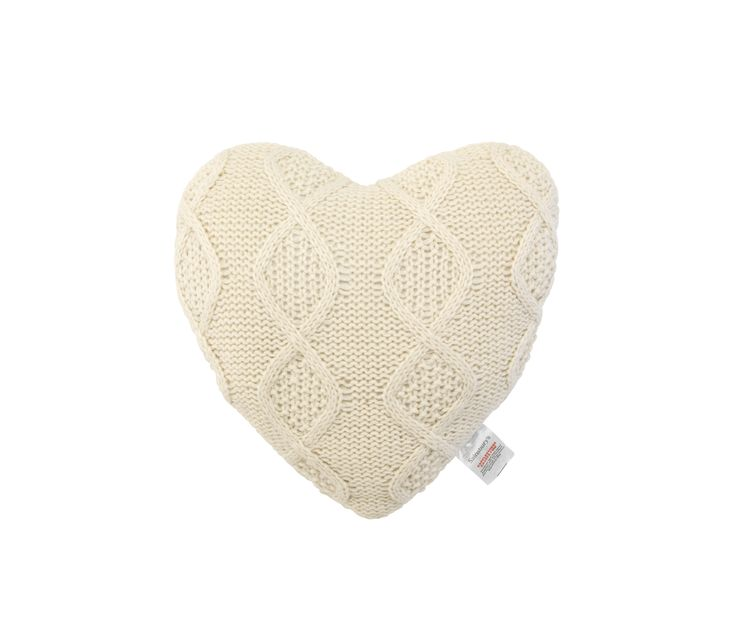 Spread the love at home with this cream heart scatter cushion in a cosy, chunky knit design. Priced at £8