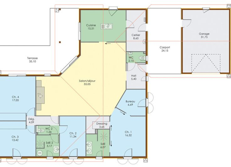 23 best plan maison images on Pinterest Blueprints for homes