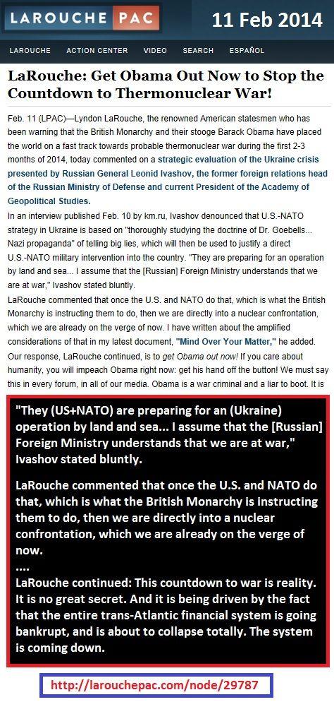 Alex Jones & Lyndon LaRouche: Ukraine & Thermonuclear World War 3!  (2 videos)
