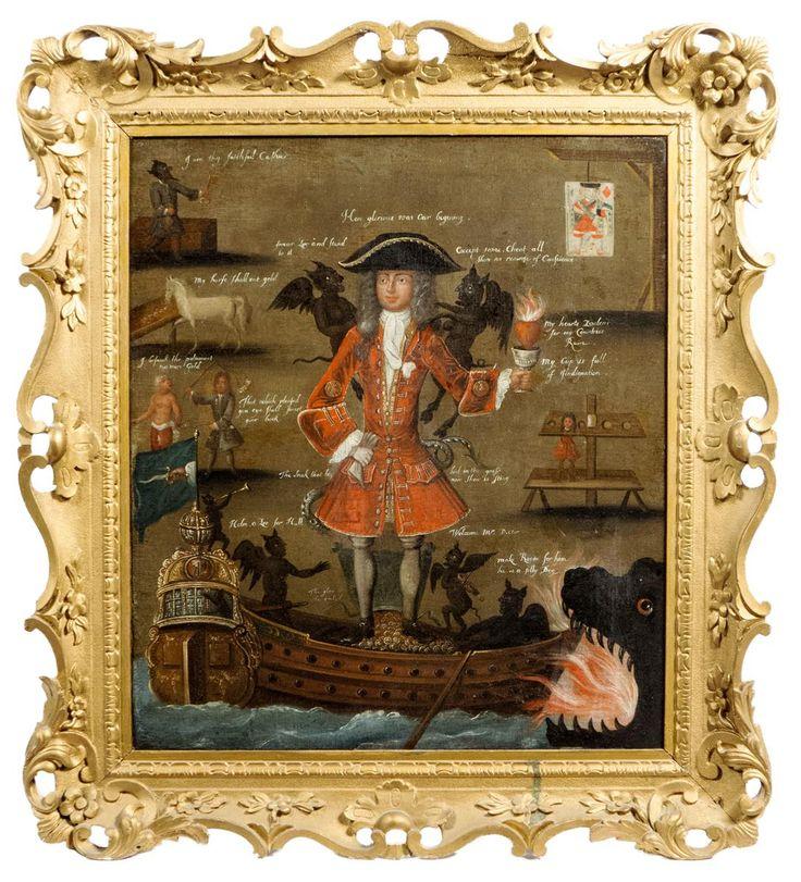 Сатирический портрет Роберта Найта - Лот 51 - Мебель, произведения искусства и Часы