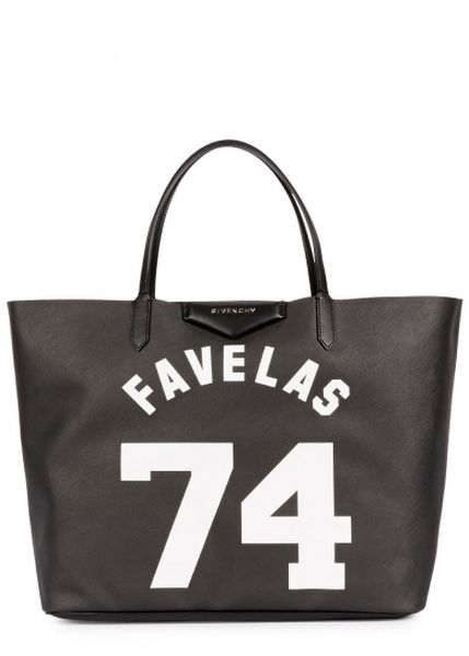 FAVELA BLACK SAFFIANO LEATHER TOTE, £695 | GIVENCHY | 15% OFF at Harvey Nichols