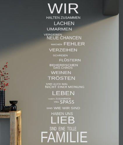 XXL Spruch - WIR Familie Haus Lachen family Wandtattoo Aufkleber 140x40cm B339 (weiss), http://www.amazon.de/dp/B00EYGDLIO/ref=cm_sw_r_pi_awdl_0M4Wtb0RB6GDQ