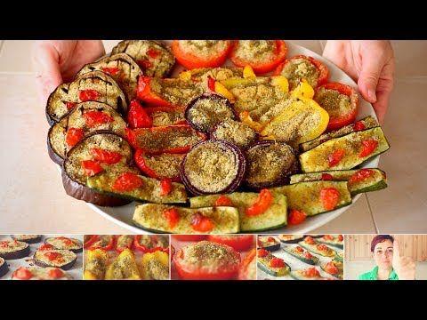 VERDURE GRATINATE Ricetta Facile - Pomodori Zucchine Melanzane Peperoni Cipolle Gratinati al forno - YouTube
