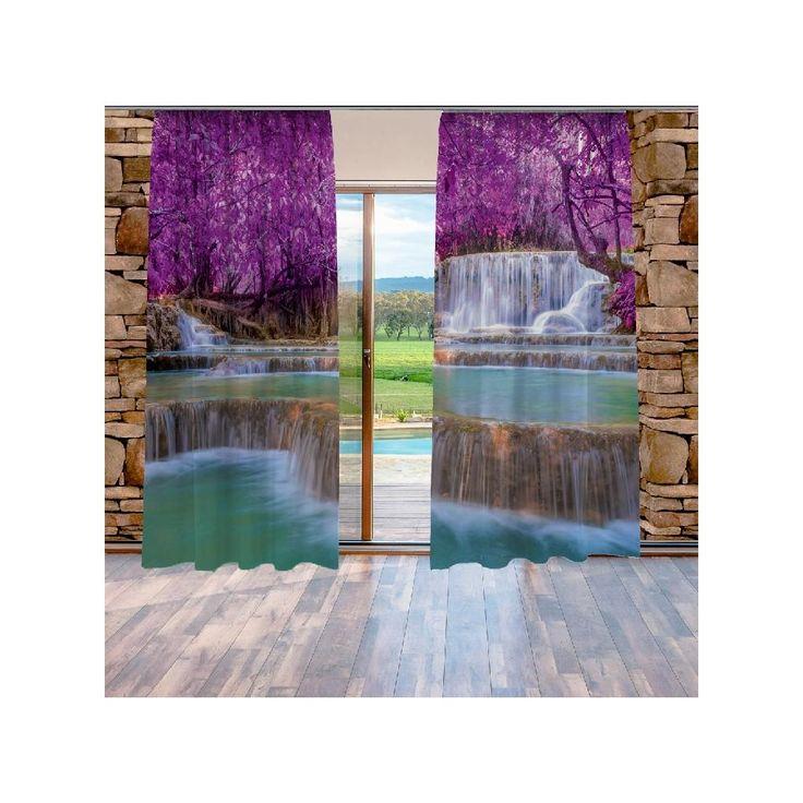 Xdecor Nádherný vodopád (140 x 250 cm) -  Dekorační závěs
