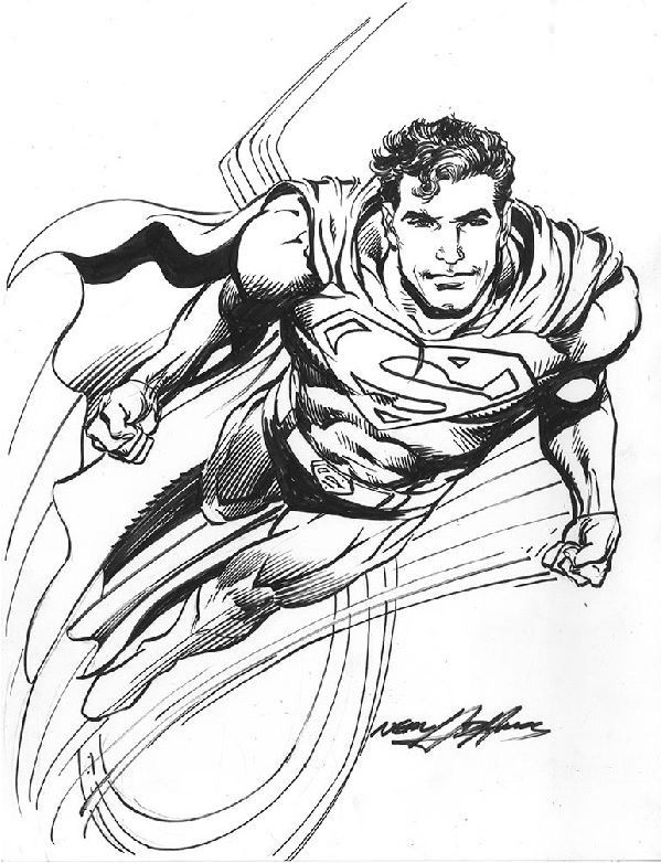 Superman By Neal Adams Nealadams Superman Clarkkent Kalel