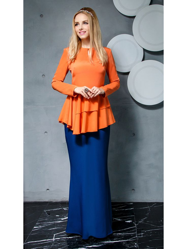 Kurung Modern with Layered Peplum