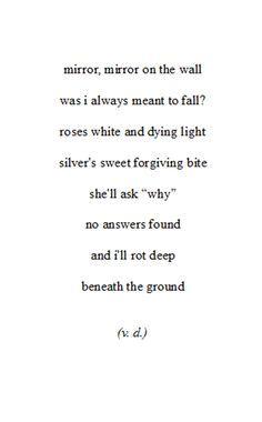 sad rhyming poems tumblr - Google Search