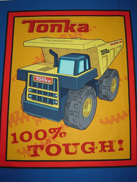 Per Panel, Tonka Truck Fabric Panel From Springs Creative