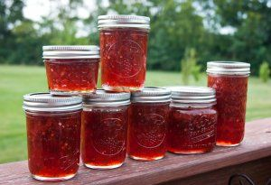 Strawberry Jalapeno Jam--my bff Laura made some yesterday and I now want this every day for the rest of my life.