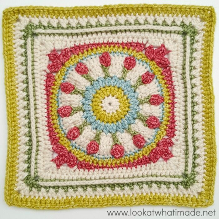 Wishing Well 12″ Crochet Square {Block 14 of the Moogly CAL 2016}