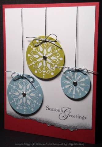 Snow Swirled Christmas by alystamps - Cards and Paper Crafts at Splitcoaststampers