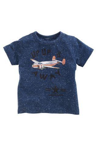 Buy Blue Plane Print T-Shirt (3mths-6yrs) online today at Next: Hungary