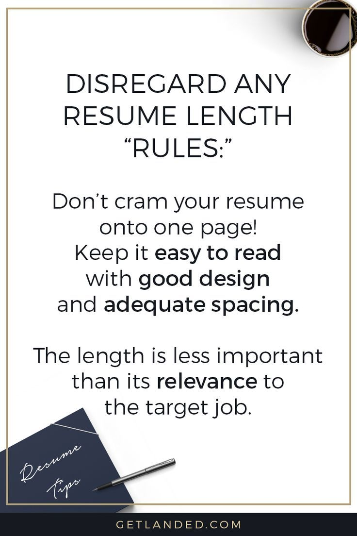 Resume Tips #1: Disregard any resume length rules!  | Resume Writing Tips / Professional Resume Templates / Resume Tips / Career Advice / CV