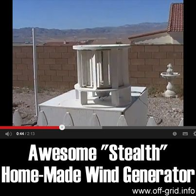 "This short, inspiring video introduction to the ""Stealth"" wind turbine by imikewillrockyou shows a simple design of home electricity generator that is really elegant! This is a Vertical [...]"
