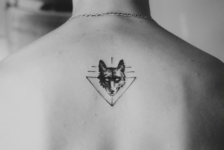 Simple but unique wolf tattoos