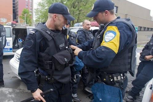 """Les policiers de Montréal et les manifestations: ils adorent...   «Je suis entré dans le groupe d'intervention pour qu'il y ait de l'action. », dit l'agent Stephan Peixe, « C'est un peu comme nos séries de hockey en ce moment. J'adore ça.»""""  http://www.lapresse.ca/actualites/dossiers/conflit-etudiant/201205/30/01-4529974-dans-les-coulisses-des-manifs-etudiantes.php?utm_categorieinterne=trafficdrivers_contenuinterne=cyberpresse_hotTopics_sujets-a-la-une_1664122_accueil_POS5"""
