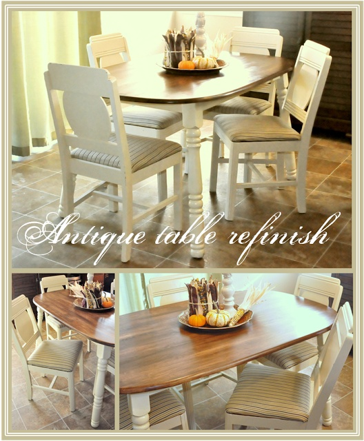 Refinished tables pinterest crafts - Refinished kitchen tables ...