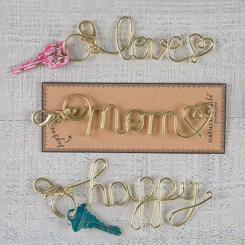 Make a statement with these fun Wire Word Art Keychains!