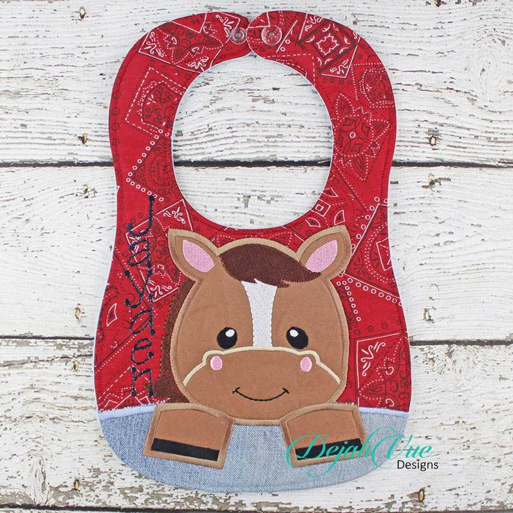 Horse Bib Large Hoops