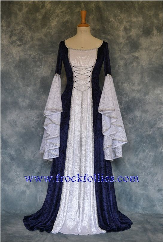 Lilith, a Renaissance, Medieval, Elvish, Pagan Custom Made Handfasting Dress via Etsy