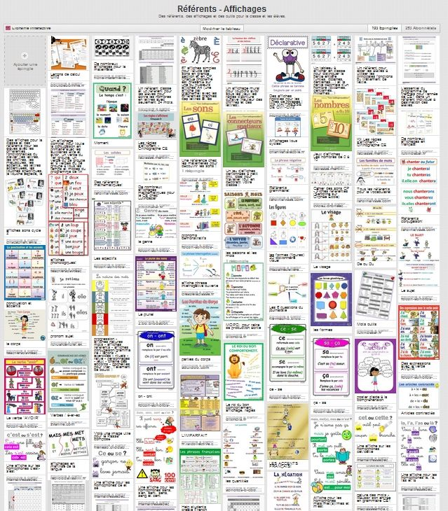 Près de 200 liens vers des ressources pour trouver rapidement vos affichages, vos référents et vos leçons.