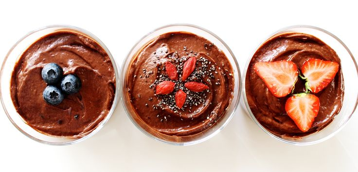 Chocolate mousse full of protein