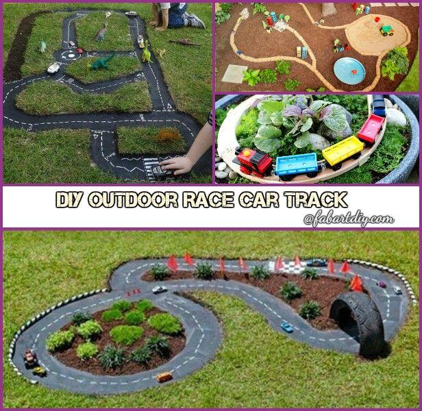 Backyard Garden Ideas For Kids Photograph: DIY Outdoor Race Car Track For Kids Backyard Activities