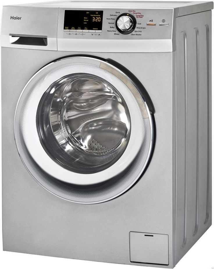 #Haier 24-#Inch Wide Front #Load #Washer And #Dryer #Combination, #Silver   HLC1700AXS