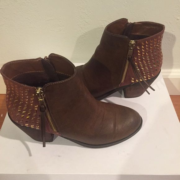 FINAL SALEBlink Cuban Heel boot with studs Good condition blink Cuban Heeled Boot with studs. Comes with box! blink Shoes Ankle Boots & Booties