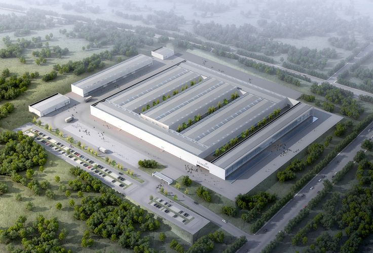 Howden Hua Factory - RH ARKITEKTER / The 45,000 square metre factory was designed for global manufacturing company Howden, in the city of Wei Hai in China. Howden produces fans, heat exchangers and compressed air pumps for the steel, mining and cement industries