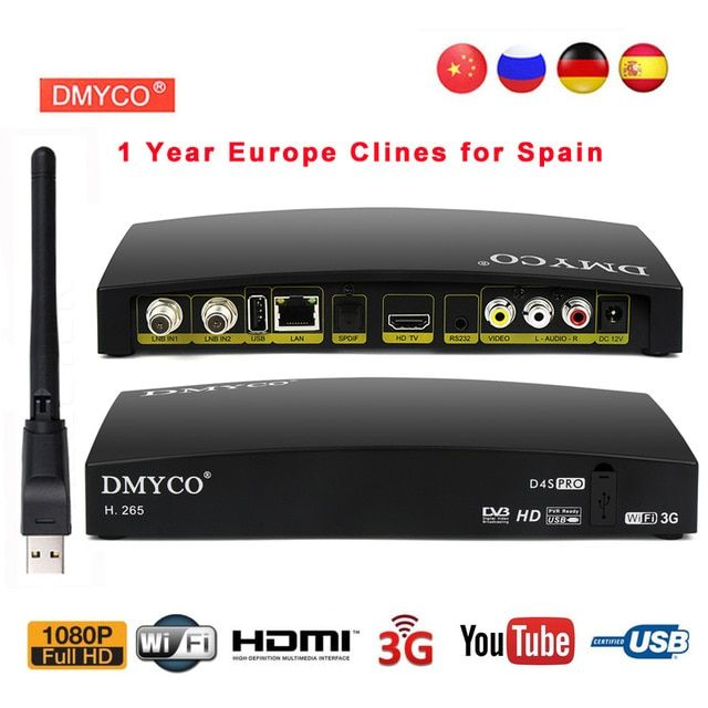 D4s Pro Dvb S2 Satellite Receiver Full Hd 1080p Tv Tuner Satellite Decoder Support H 265 Powervu Biss Key 3g Usb Wifi Satellite Receiver Satellite Tv Tv Tuner