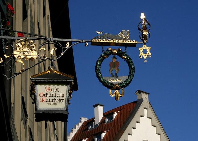 Schlenkerla Brewery sign Bamberg by Graham Fellows, via Flickr