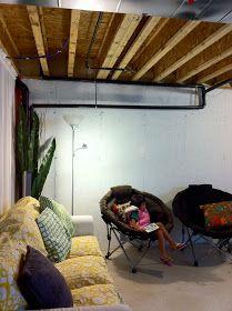 houseonashoestring unfinished basement main area