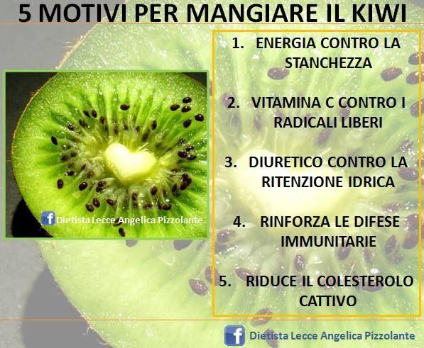 5 motivi per mangiare il #kiwi!!! #frutta #alimentazione #nutrizione #dieta #salute #mangiaresano
