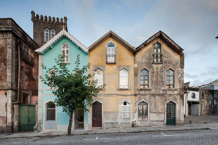 serving as a home and an office for the neighboring palace, the project combines typical 19th century portuguese architecture and urban design with an unexpected alpine influence.