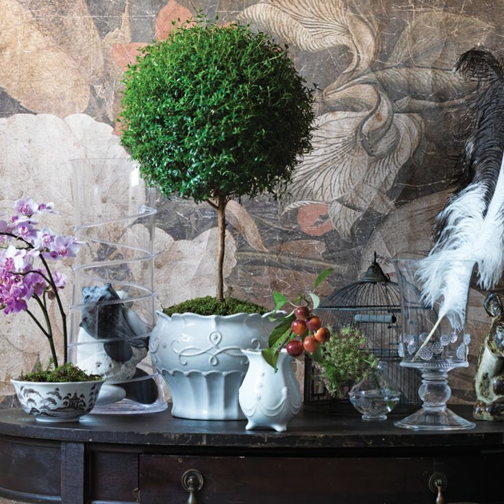 Think outside the pot! Invest in a beautiful vessel and fill it with your style; experiment with flowers or found objects and have fun creating your signature look.