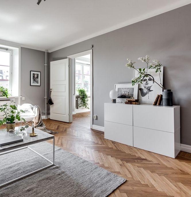 Grey home with a glass partition – via cocolapinedesign.com