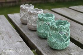 Free crochet pattern for votive covers
