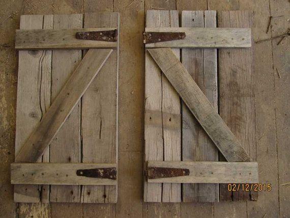 Best 25+ Rustic shutters ideas on Pinterest | Farmhouse ...