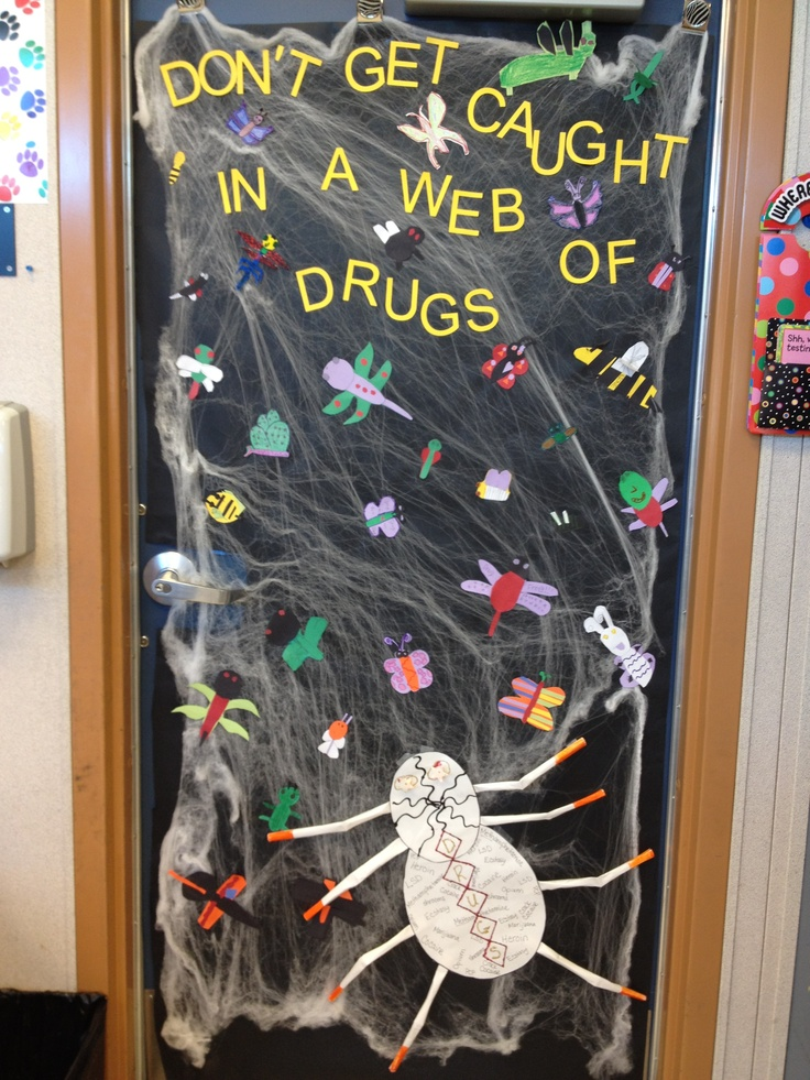 Our Drug Free Week Door Decoration.