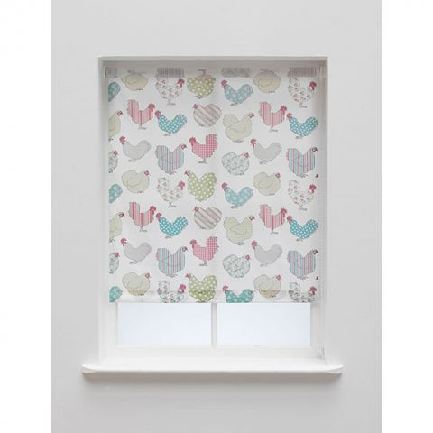 Sandown And Bourne Chicken Roller Blind – Next Day Delivery Sandown And Bourne Chicken Roller Blind from WorldStores: Everything For The Home