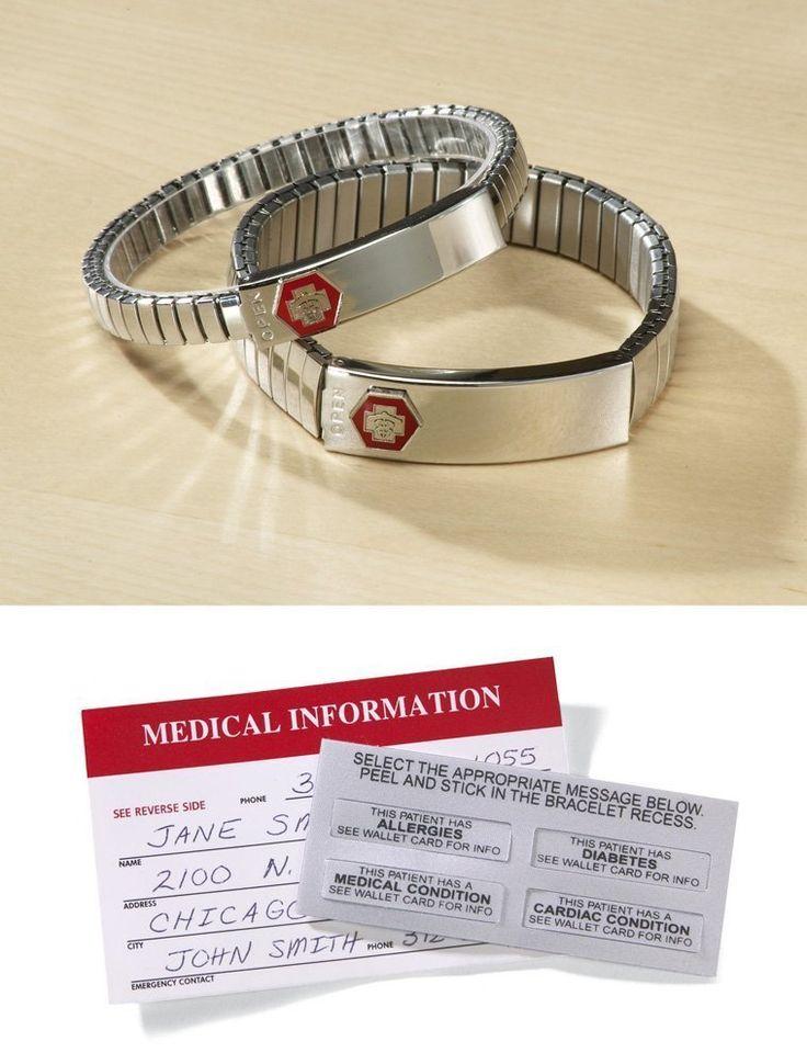 Amazon.com: pulsera de identificación médica - pulsera de las mujeres: Deportes y tiempo libre