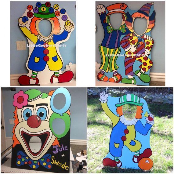 Carnival Birthday Party . Clown Photo Booth by LittleGoobersParty