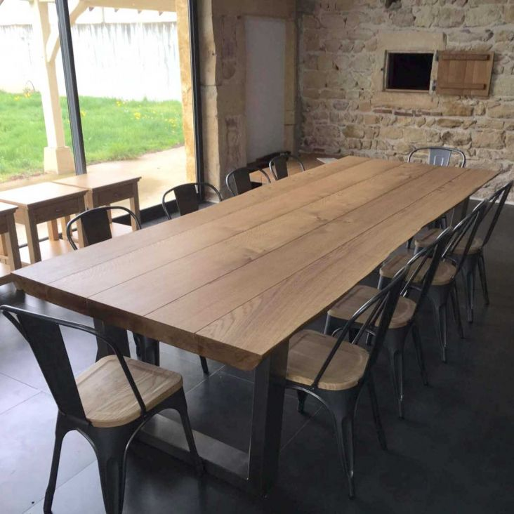 Homemade Kitchen Tables Large Oak Dining Tables Homemade