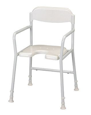 Homecraft Non Folding Shower Chair with Cut Out 368 Advantage card points. Non Folding Shower Chair with Cut Out. This shower chair has armrests on the side of the seat to provide additional support when raising from or lowering onto the stool. Max http://www.MightGet.com/april-2017-1/homecraft-non-folding-shower-chair-with-cut-out.asp