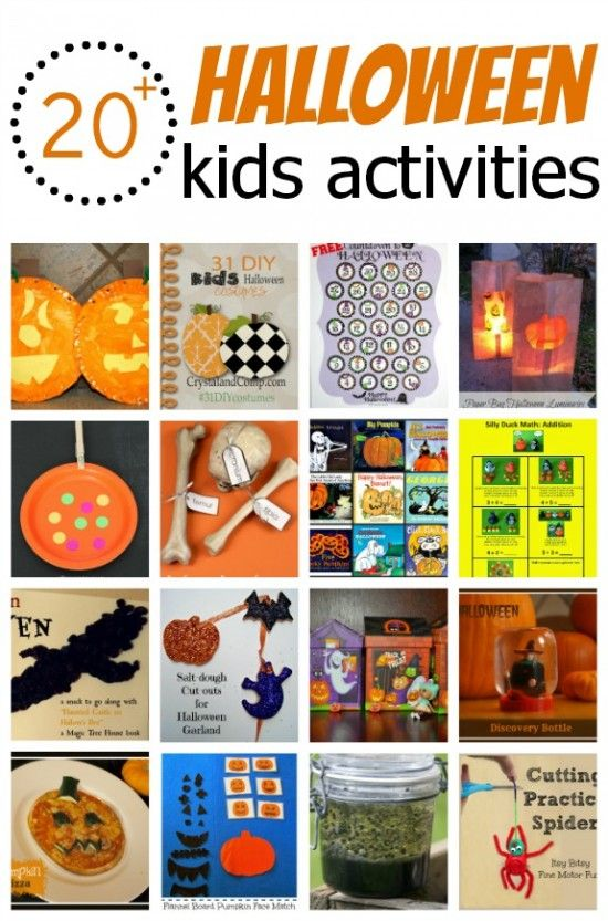 20 super fun ideas for you to try with your kids this month including Halloween books, crafts, busy bags, food and more. These Kids Activities will keep your kiddos busy all Fall!