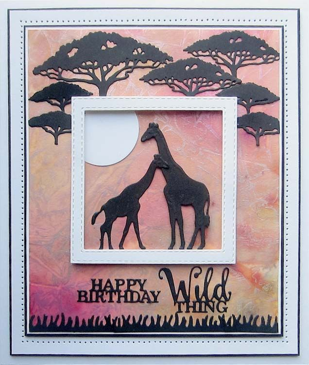 Clear Stamp Metal Cutting Dies Animal Africa Safari Children Rubber Stamp Dies